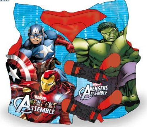 17019  Жилет надувной в пакете 40 см  супер герои