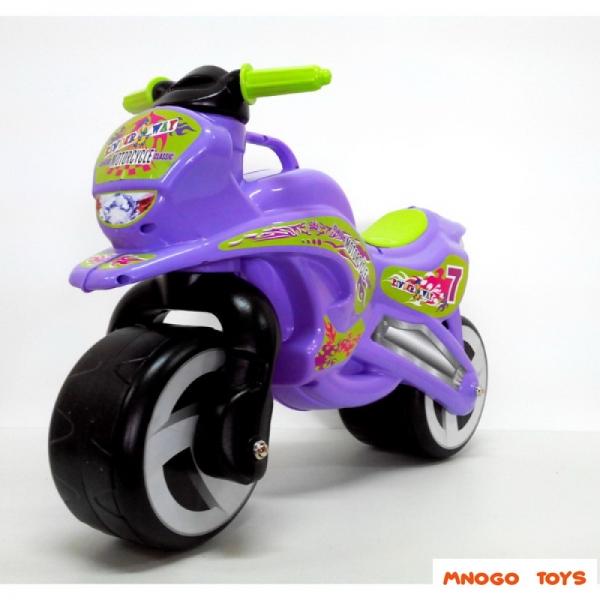 11-006  /фиолет / Каталка Мотоцикл  музык