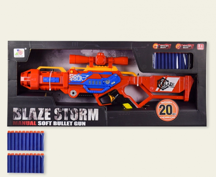 7068  Бластер стреляет поролон.снарядами, 20 снарядов в комплекте, в  откр кор 70,5*7*