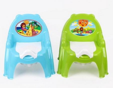 4074  Горшок кресло /  синий  салатовый /