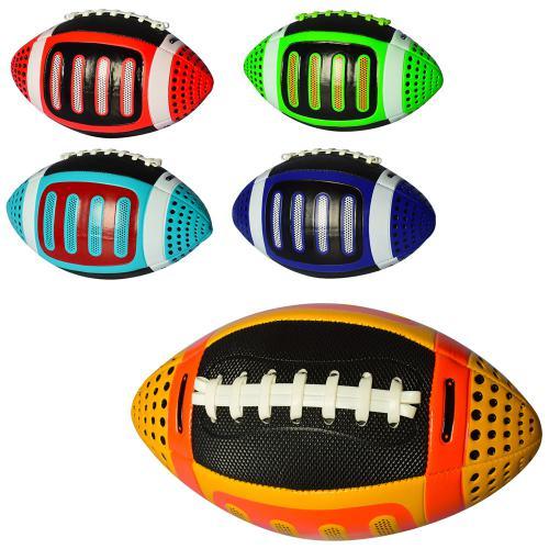 2799  Мяч регбийный размер 2 , ПВХ, 180-200г, 5цветов, в кульке