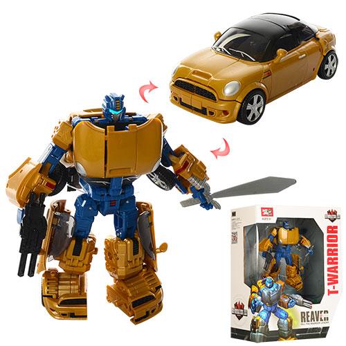 8027   Трансформер  17см, робот-машина, оружие, в кор-ке, 27-31,5-12см